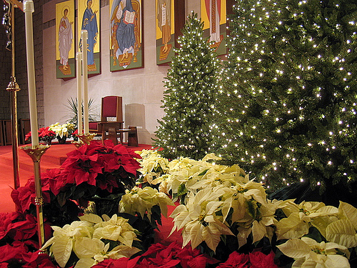 christmas decor church