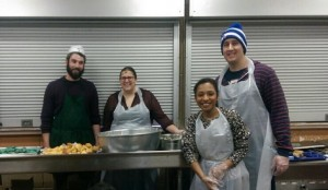 Getting ready to feed our daybreak Center clients in the middle of a snow storm 2015.
